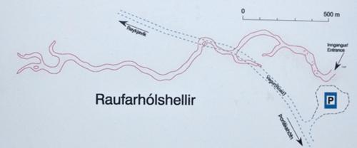 Map of Raufarhólshellir