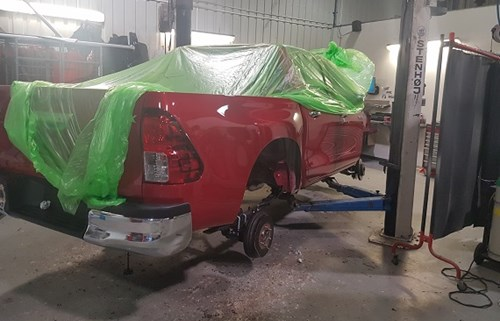 Toyota Hilux in Garage