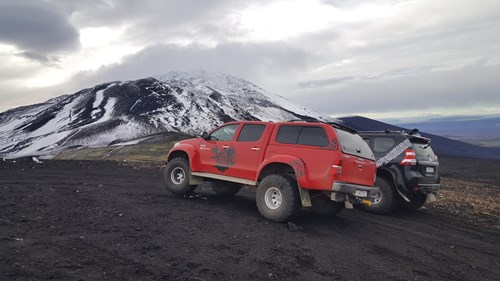 Land Cruiser and Hilux Hekla Iceland. Arctic Trucks Experience